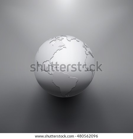 Digital Earth image of globe. The concept illustration