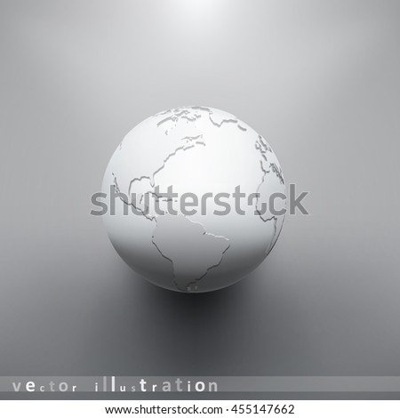 Digital Earth image of globe. The concept vector illustration eps10