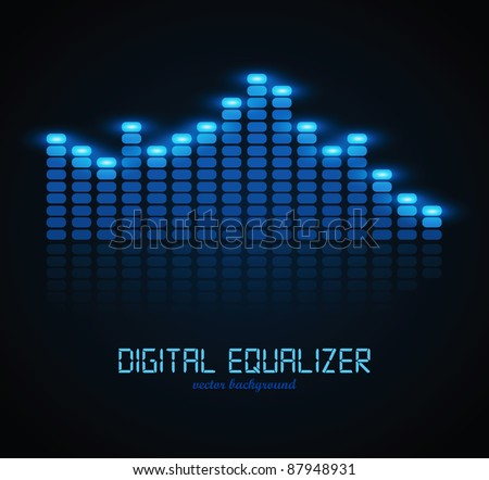 Digital Equalizer - stock vector