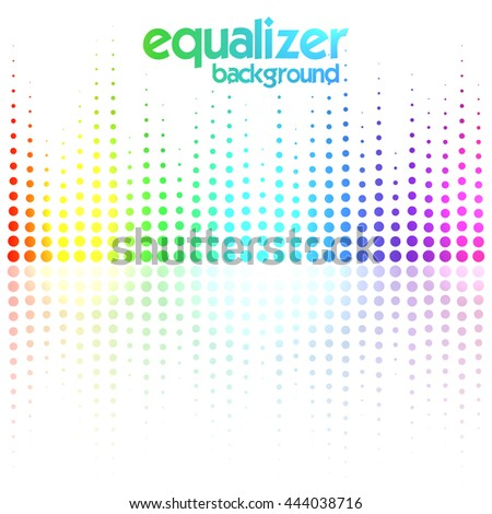 Digital equalizer, colorful sound wave. Vector illustration
