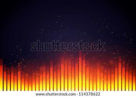 Digital Equalizer. Vector illustration. - stock vector
