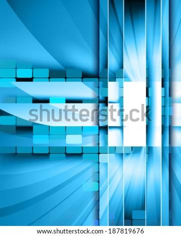 digital glass - stock vector