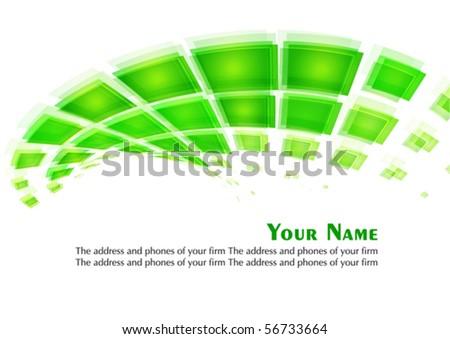 Digital green background, Vector - stock vector