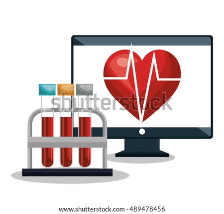 digital healthcare cardiology and test tube design