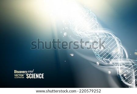 Digital illustration of a DNA molecule. Vector illustration. - stock vector