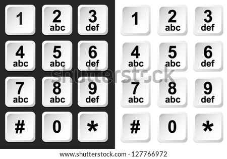 Digital keypad, keyboard, dialer - access vector - stock vector