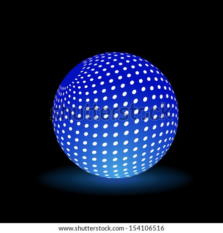 Digital Light Ball - stock vector