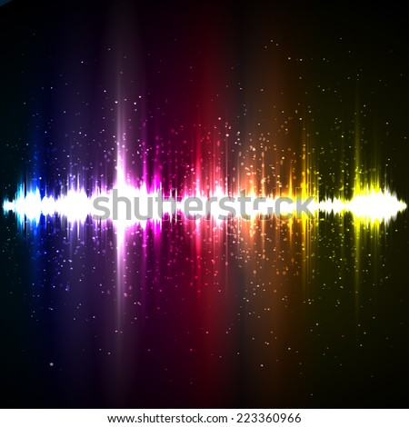 Digital light Equalizer background. Vector illustration - stock vector