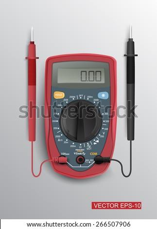 Digital multimeter.Vector illustration.  - stock vector