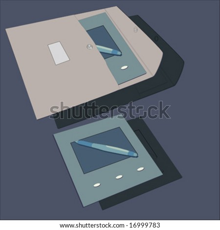 Digital Pen Drawing Tool Envelope Stock Vector 16999783 - Shutterstock