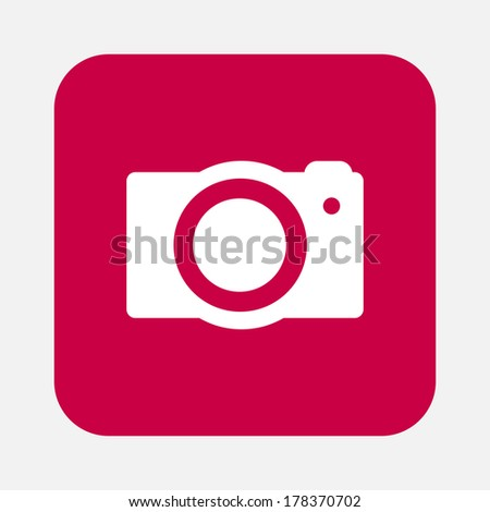 digital photo camera - stock vector