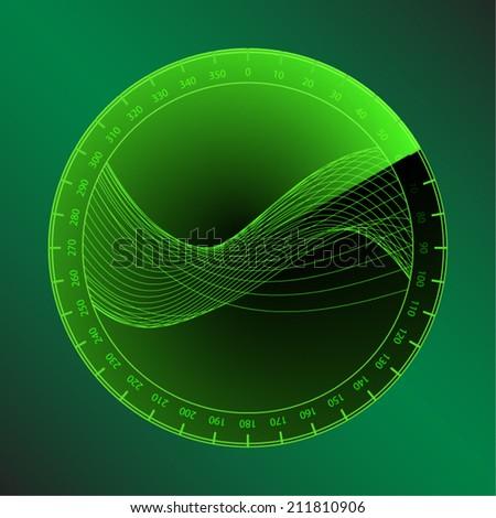 Digital signal on green screen detection. A vector illustration. - stock vector