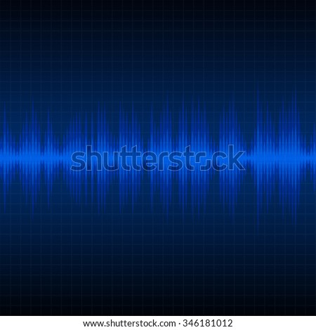 Digital sound wave, best music and science pulse background
