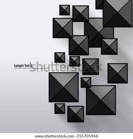 Digital Squares Modern Background - stock vector