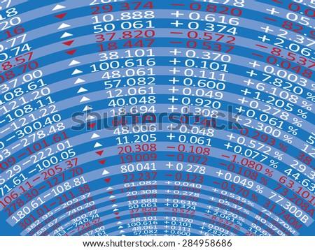 Digital Stock exchange panel - stock vector