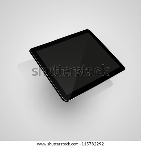 Digital tablet. Isolated on white. Vector illustration eps10 - stock vector