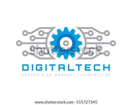 Digital tech vector business logo template stock vector 555727345 digital tech vector business logo template concept illustration gear electronic factory sign cog cheaphphosting Gallery