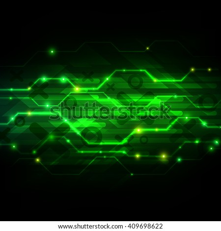 Digital technology background. Futuristic Interface. Abstract vector illustration.