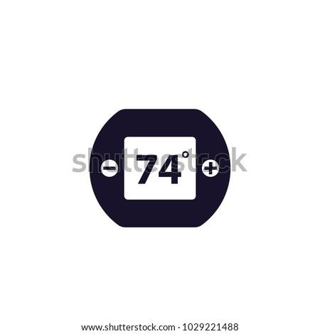 digital thermostat icon stock vector 1029221488 shutterstock
