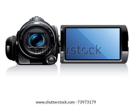 Digital Video Camera Vector - stock vector