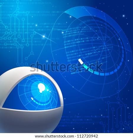 Digital World - stock vector