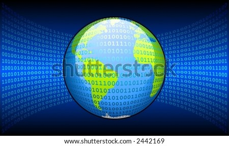Digital world (America,Africa,europe)