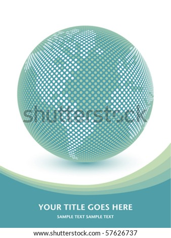 Digital world map with copy space. - stock vector