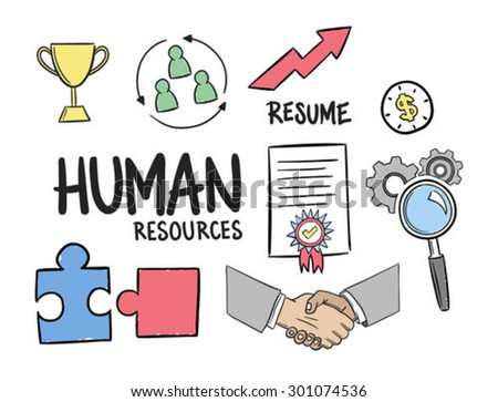 Digitally generated Human resources concept vector - stock vector