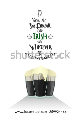 Digitally generated St patricks day greeting vector - stock vector