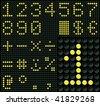 Digits and Symbols - stock vector