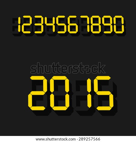 Digits for digital clock