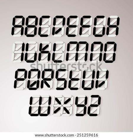 Digits letters set. Vector illustration - stock vector