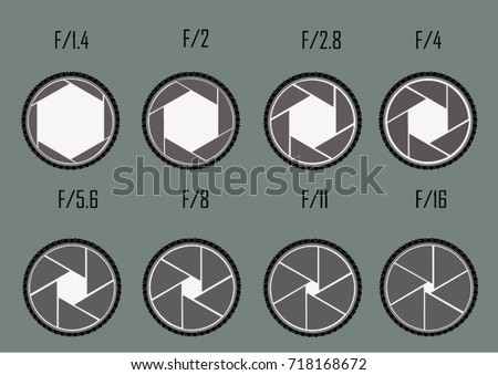 Dimension Dslr camera aperture Vector