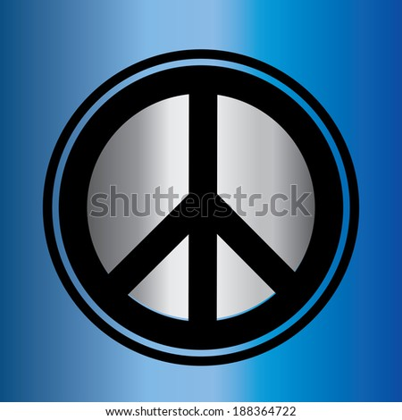 dimensional peace sign - stock vector