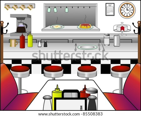 Diner - stock vector