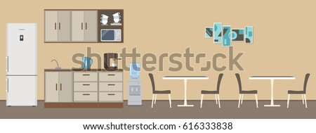 Dining Room In The Office There Are Tables Chairs Kitchen Cabinets A