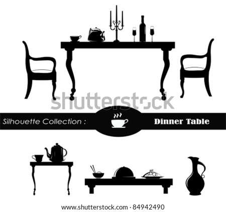 Table Silhouette Stock Images, Royalty-Free Images ...