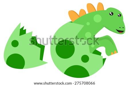 Dino Born - stock vector