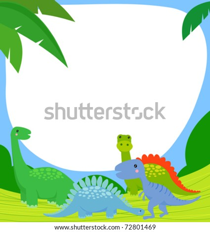 dinosaur and frame