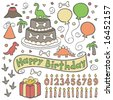 Dinosaur Birthday Party - stock vector