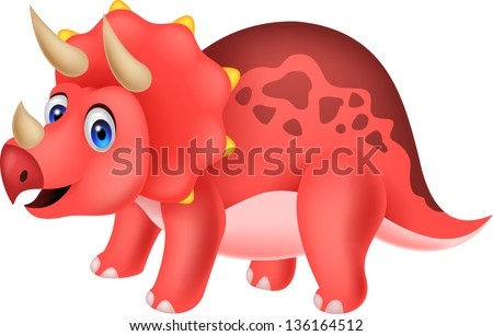 Dinosaur cartoon - stock vector