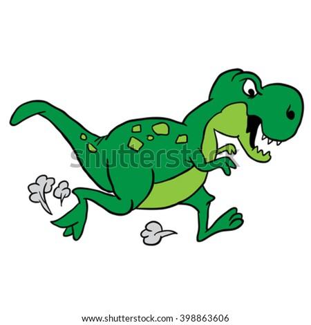 dinosaur cartoon - stock vector