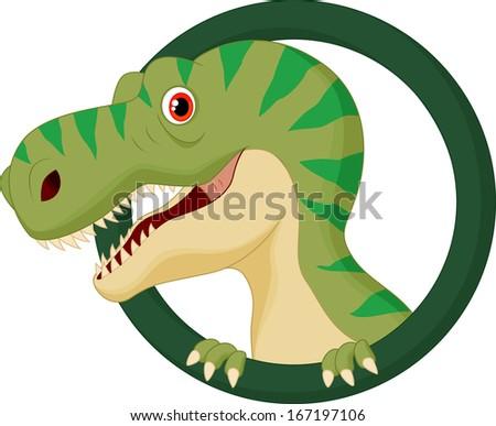 Dinosaur cartoon character - stock vector