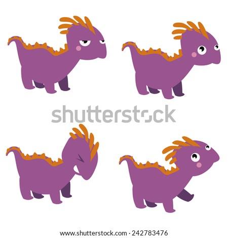 Dinosaur characters set - stock vector