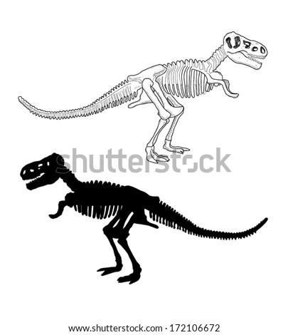 Dinosaur Skeleton - stock vector