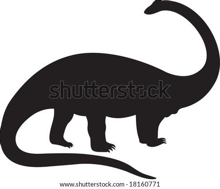 dinosaur, vector - stock vector