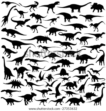 dinosaur vector collection - stock vector