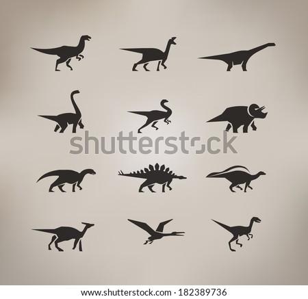 Dinosaurs. Vector format - stock vector