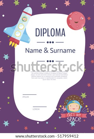 Diploma Template Stock Images, Royalty-Free Images & Vectors ...