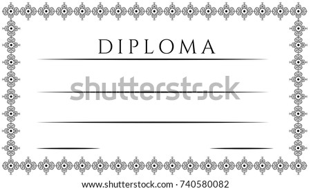 Diploma Certificate Vector Template Stock Vector 740580082